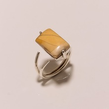 Natural brecciated mookaite Gemstone ring