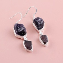 Natural chalcedony Gemstone earring