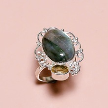 Natural Gemstone Labradorite ring
