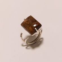 Natural Palm Wood Jasper Gemstone ring