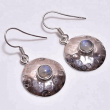 Natural Rainbow Moonstone Earrings