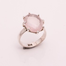 Natural Rose Quartz Gemstone ring