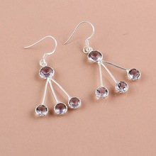 Pink Amethyst Gemstone Earrings
