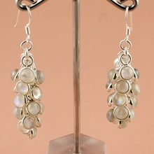 Rainbow moonstone gemstone earring