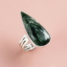 Seraphinite Gemstone silver ring