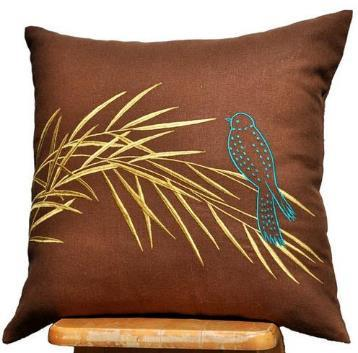 Embroidered Cushion Cover 07