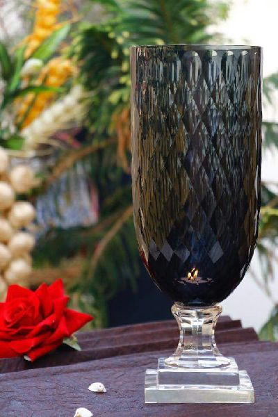 Glass Candle Vase