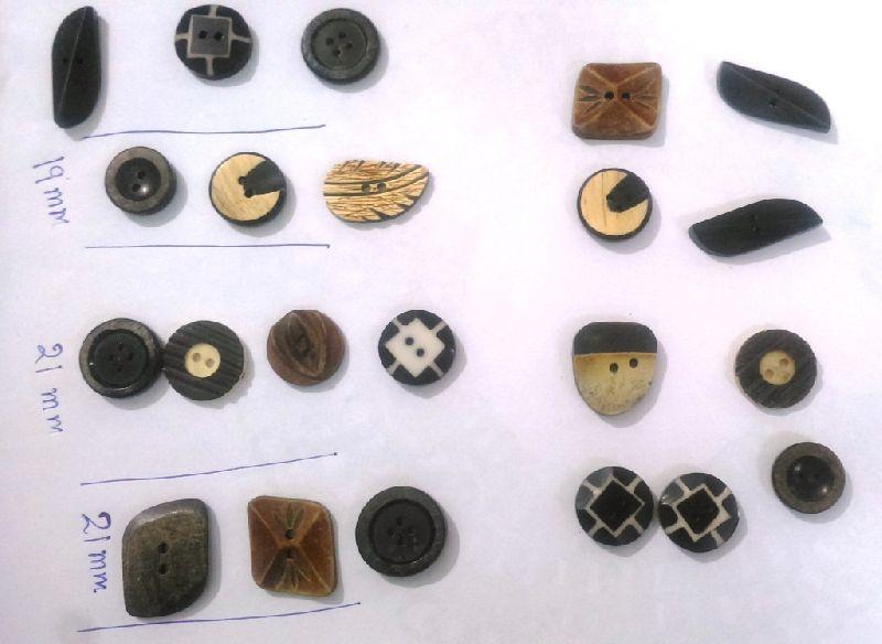 Horn Bone Buttons