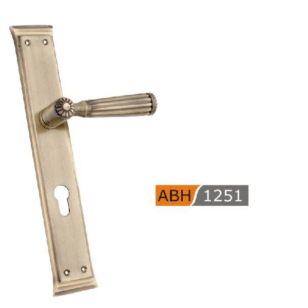 ABH 1251- 300mm Brass Mortice Door Handle