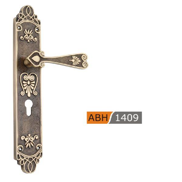 ABH 1409 - 350mm Brass Mortice Door Handle