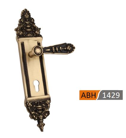 ABH 1429 - 350mm Brass Mortice Door Handle