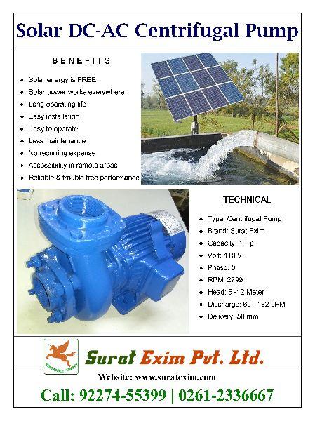 1Hp Solar Centrifugal Pump