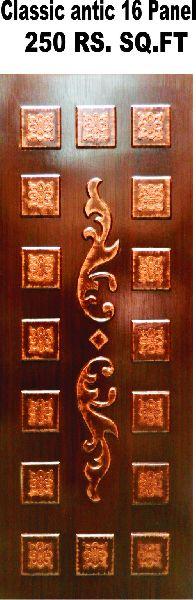 Classic Antique 16 Panel Laminated Door
