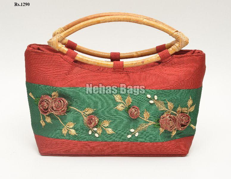 NHSC - 013 ( Eyelet silk hand bags)