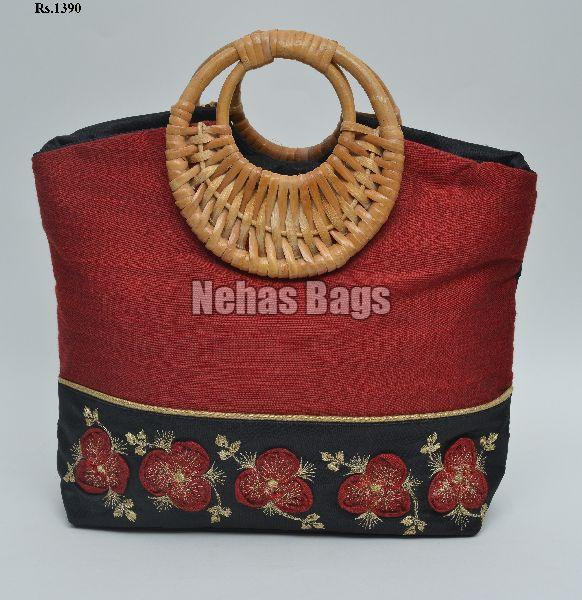 NHSC- 039 ( coral silk hand bags)