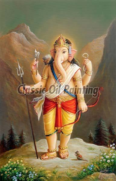 Ganesha Oil Painting