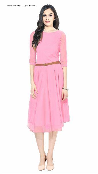 D-06 Pink Moon Light One Piece Frock Dress
