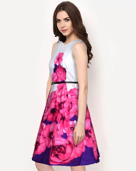 D-195 Eliza Pink C One Piece Frock Dress
