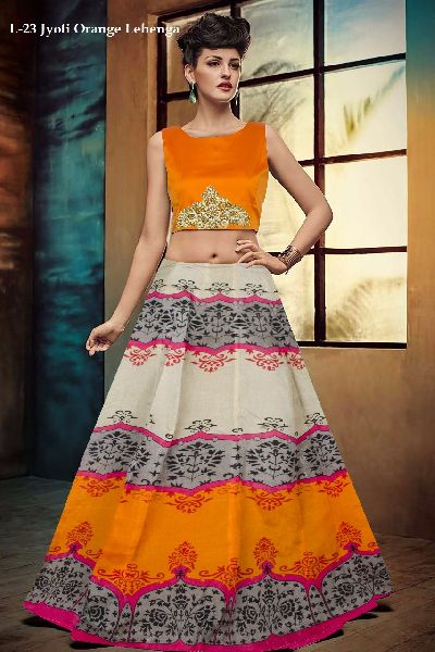 L-23 Jyoti Orange Lehenga