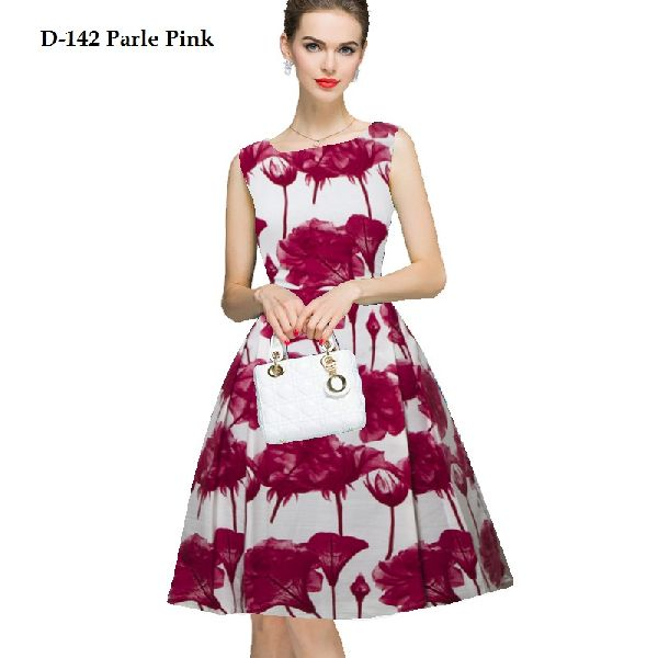 Parle Pink One Piece Frock Dress