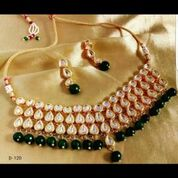 Party Wear Stone & Kundan Necklace Set 01