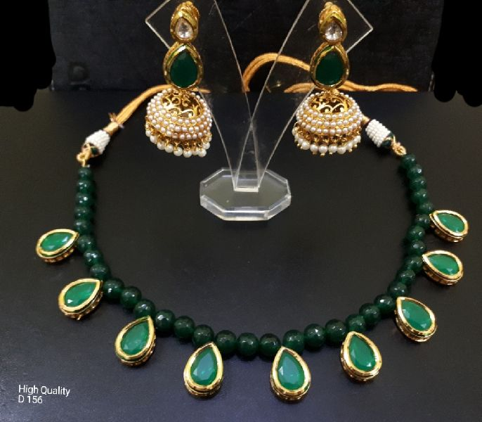 Party Wear Stone & Kundan Necklace Set 02