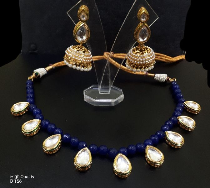 Party Wear Stone & Kundan Necklace Set 03
