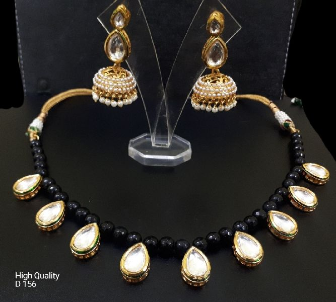 Party Wear Stone & Kundan Necklace Set 04