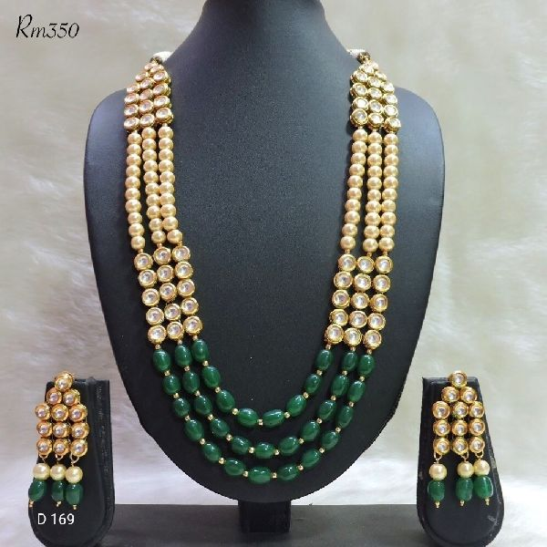 Party Wear Stone & Kundan Necklace Set 07