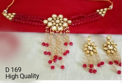 Party Wear Stone & Kundan Necklace Set 08