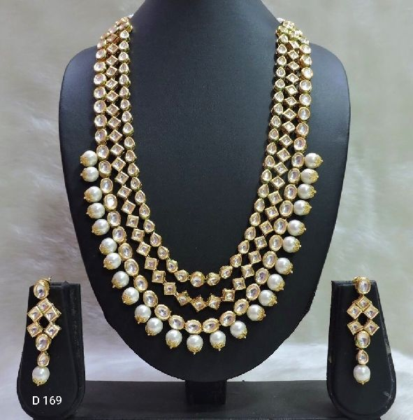 Party Wear Stone & Kundan Necklace Set 10