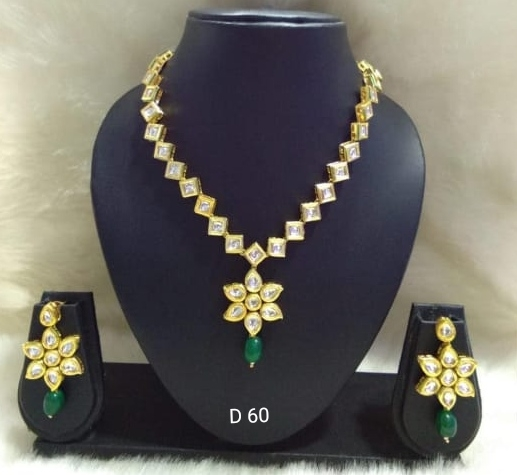 Party Wear Stone & Kundan Necklace Set 12