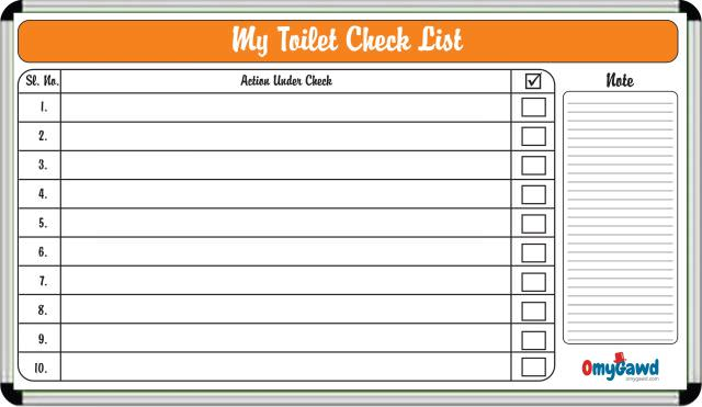 Toilet Checklist Board