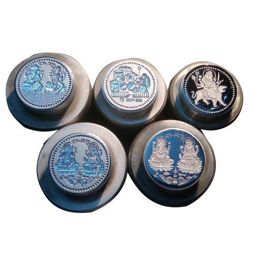 Silver Dull Polish Coin Die 02