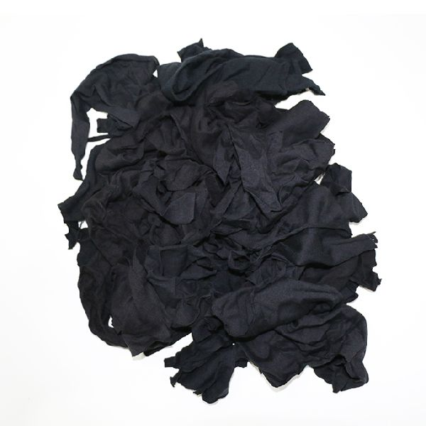 Black Knitted Cotton Fabric Waste Clips
