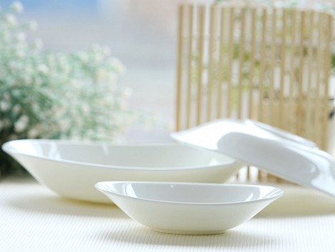Bone China Oval Serving Bowls 01