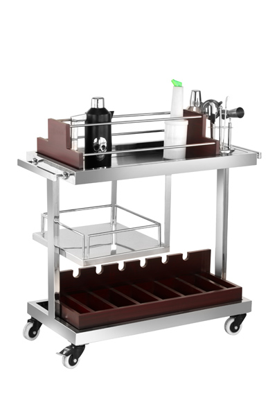 Stainless Steel Bar Trolley 04