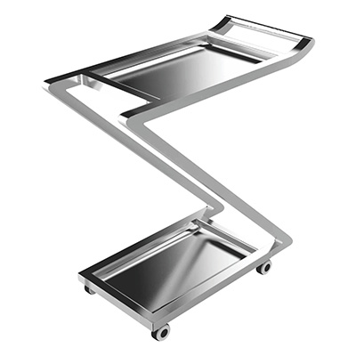 Stainless Steel Multi Utility Trolley 02