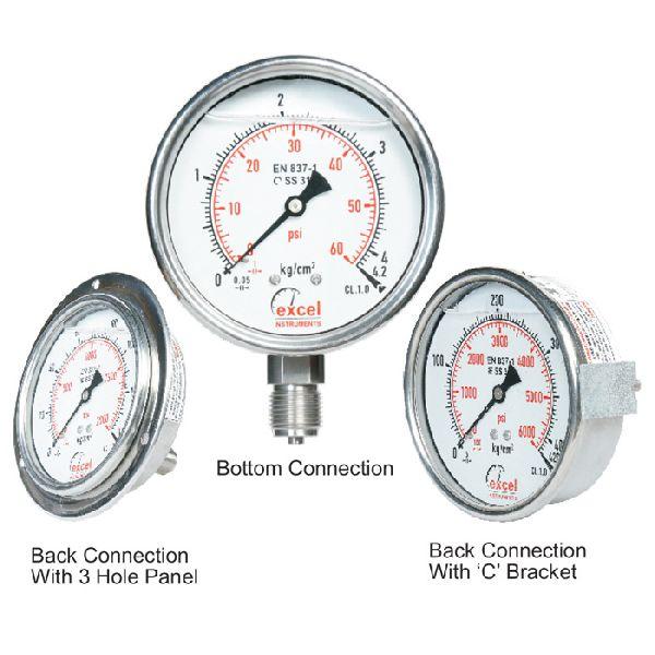 ESG Bourdon Type Pressure Gauges