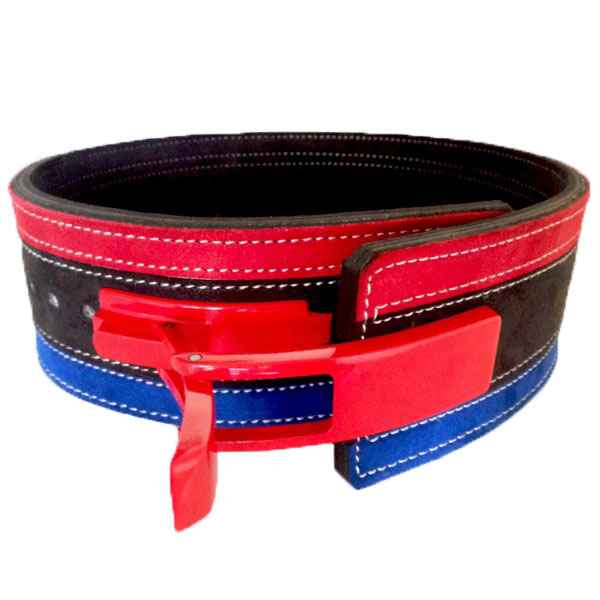 Tri Color Weight lifting Suede Leather Belt / Tri Color Leather Belt / Weight lifting Lever Belt