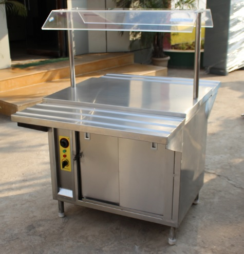 Stainless Steel Hot Case Counter