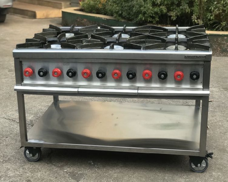 Stainless Steel Six Burner Gas Stoves