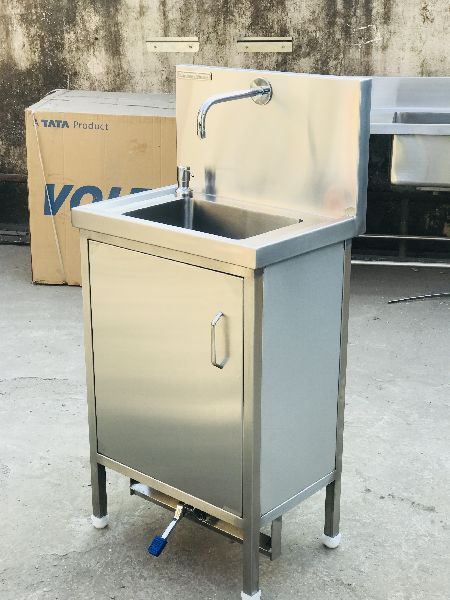 Stainless Steel Foot Operated Hand Wash Sink 02