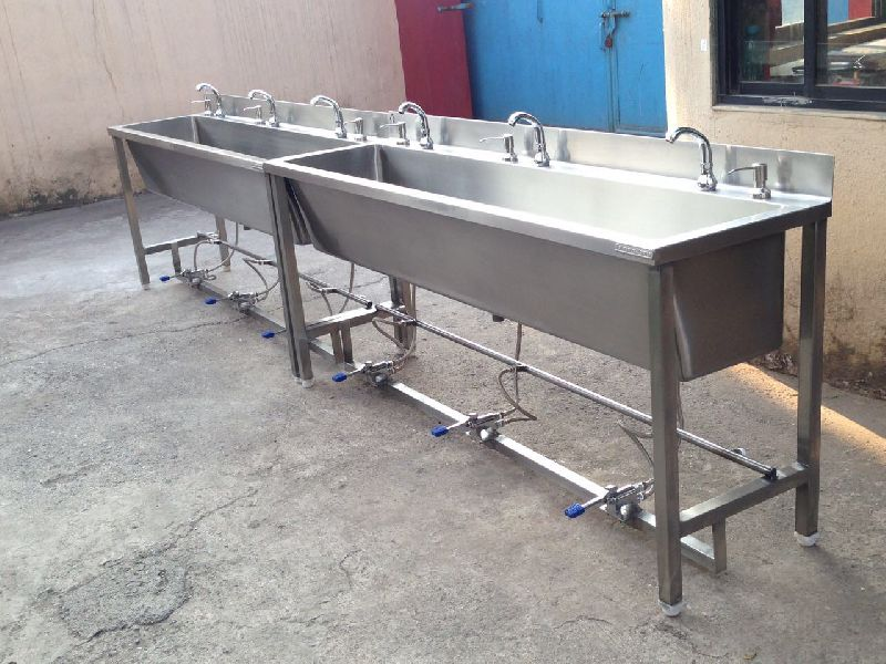 Stainless Steel Foot Operated Hand Wash Station