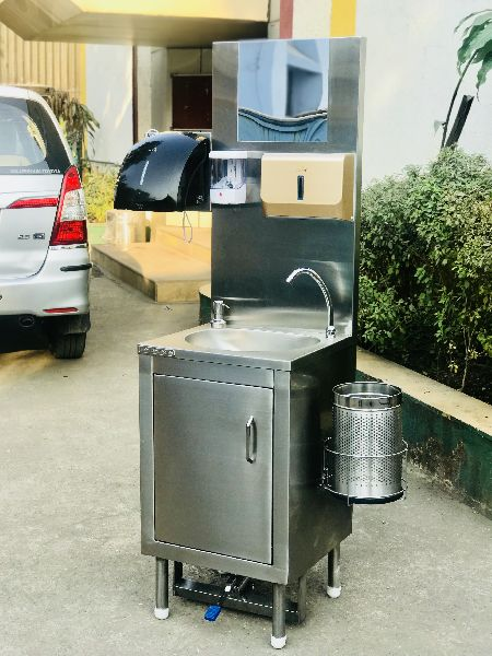 Stainless Steel Foot Operated Hygiene Station