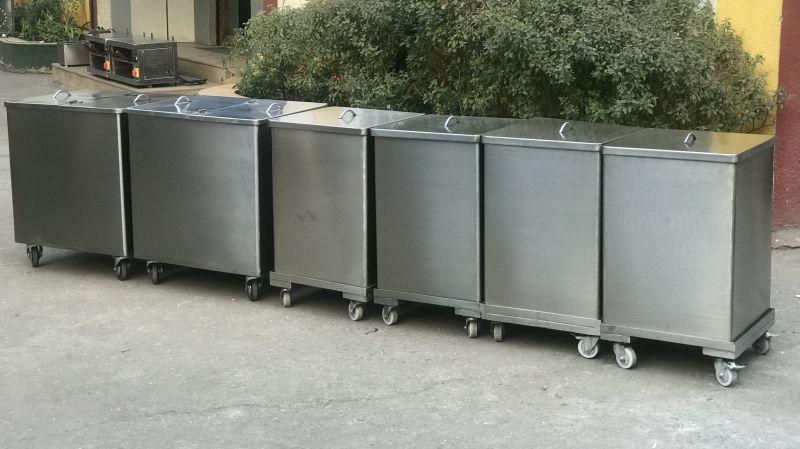 Stainless Steel Ingredient Bins