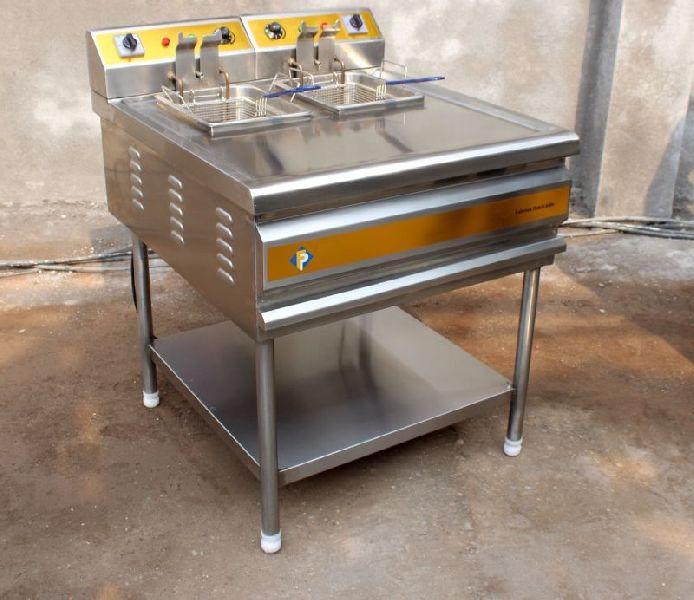 Stainless Steel Twin Tank Deep Fat Fryer 02