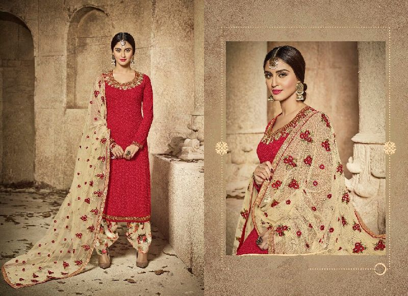 Winsome Crystal Semi Stitched Suits