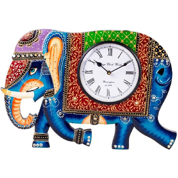 Elephant Wooden Clock