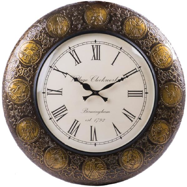 Golden Finishing Wall Clock